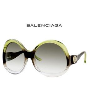 Balenciaga Gradient Upside Down Round Sunglasses